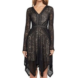 BCBGMaxazria | Black Lace Stretch Sheath Dress
